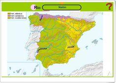 """""""Ríos de España"""" (Editorial Anaya) Anaya, Atlanta, Editorial, Map, Socialism, Science Area, Teaching Resources, Social Science, Learning"""