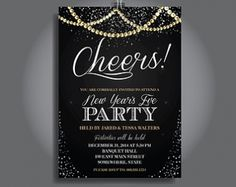New Years Eve Party Invitations with various style of party invitation templates 895