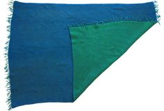Green & Blue Reversible Crochet Throw on @One Kings Lane Vintage & Market Finds by Ruby + George