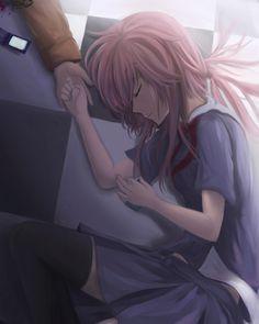 Anime 1600x2000 Mirai Nikki anime girls Gasai Yuno