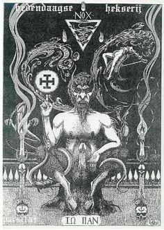 Illustration from Abrahadabra Larkfall Baphomet, Dark Fantasy Art, Dark Art, Pan Mythology, Tarot, Satanic Rituals, Ninja Art, Satanic Art, Evil Art