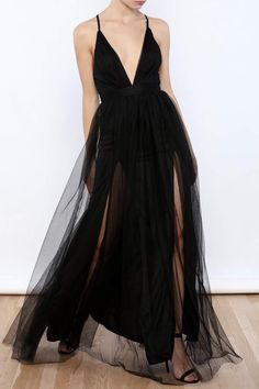 luxxel Tulle Maxi Dress