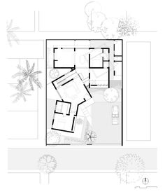 Image 29 of 32 from gallery of A House of Small Talks / WARP architects. Longitudinal Section 1 The Plan, How To Plan, Architecture Drawings, Landscape Architecture, Architecture Design, Location Plan, Terrace Floor, Bali House, Ground Floor Plan