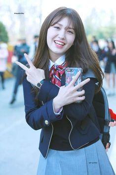 this a member of wraps, somi Jeon Somi, South Korean Girls, Korean Girl Groups, Cover Wattpad, Korea Fashion, School Uniform, Ulzzang Girl, K Idols, Girl Crushes
