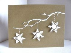 A handmade Christmas card with a few simple 3D snowflakes can make for a fantast