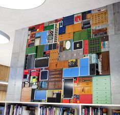 """""""Tetris"""". Installation of found objects by Michael Johansson."""