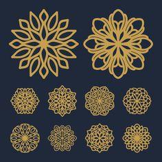 Mandala Flower, Geometric Flower, Geometric Designs, Mandala Art, Cajas Silhouette Cameo, Arabian Pattern, India Pattern, Love Birds Painting, Flower Symbol