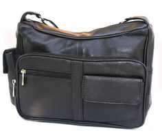 Luxury Collections(TM) Genuine Leather Handbag Purse with Cell Phone Holder  Many Pockets $24.50