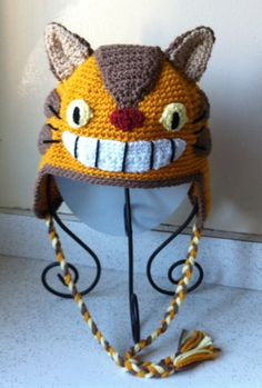 Catbus Totoro inspired hat adult size by scotako on Etsy, $37.00