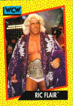 Ric Flair WCW 1991 Impel trading card. Pro Wrestling -WAM