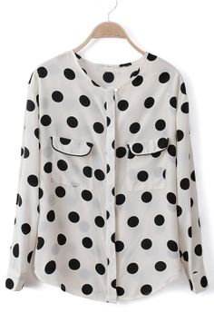 Polka Dot Pockets Chiffon