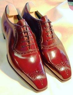 Oxford Genuine Leather Maroon Red Handcrafted Medallion Toe Lace Up Men's Shoes sold by LeathersPlanet. Shop more products from LeathersPlanet on Storenvy, the home of independent small businesses all over the world. Handmade Leather Shoes, Suede Leather Shoes, Leather And Lace, Leather Men, Cowhide Leather, Real Leather, Black Leather, Lace Up Shoes, Men's Shoes