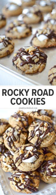 Rocky Road Cookies   Gilmore Girls recipe   @simplywhisked
