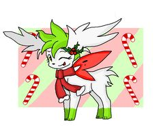 Merry Christmas (Shaymin Sky Form) | Pokécharms