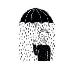 it rains inside