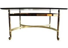 square glass and brass coffee table - Google Search