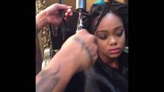 This video shows him sewing in Tresses By Vmir in clients hair and curling hair with marcel irons. He uses his famous Silkening Mist for shine and volume and...