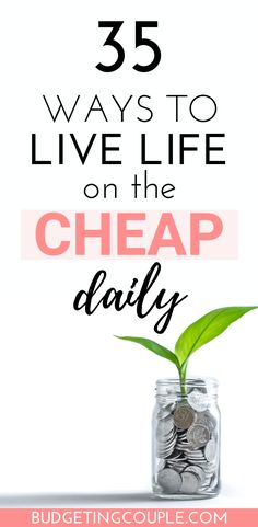 32 Cheap Living Tips: How To Live Cheap & Enjoy Your Money in 2020 Saving Money Quotes, Best Money Saving Tips, Ways To Save Money, No Spend Challenge, Money Saving Challenge, Frugal Living Tips, Frugal Tips, Budgeting Finances, Budgeting Tips