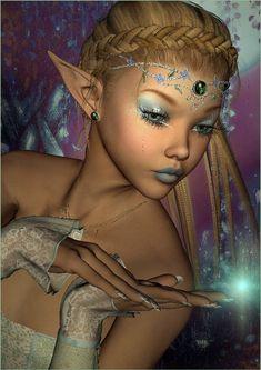 Carita by janrique fairy dust, fairy tales, fairy land, fantasy world, fantasy Fairy Dust, Fairy Tales, Fairy Land, Fantasy World, Fantasy Art, Marah Woolf, Black Fairy, Elfa, Elves And Fairies