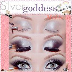 Silver Goddess Eyeshadow Look