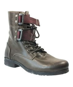 Look what I found on #zulily! Dark Gray Olay Leather Boot - Men #zulilyfinds