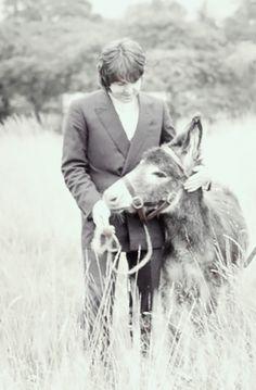 moveslikemacca: Paul M. & a friend....   Sir Donkey