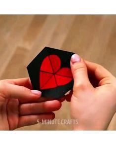 Cool Paper Crafts, Paper Crafts Origami, Fun Crafts, Origami Cards, Magic Crafts, Diy Crafts Hacks, Diy Crafts For Gifts, Diy Arts And Crafts, Diy Gifts Videos