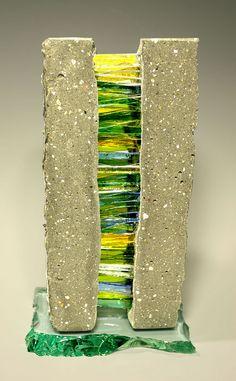 lime-light-ii-2009 Concrete Sculpture, Concrete Art, Modern Sculpture, Abstract Sculpture, Sculpture Art, Mosaic Art, Mosaic Glass, Mosaic Tiles, Stained Glass Ornaments