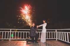 After he proposed, fireworks went off! It was so perfectly coordinated and thoughtful. <3