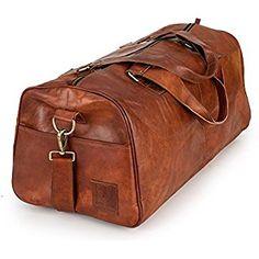 edb3211670d02 Weekender Berliner Bags Oslo XL Reisetasche aus Leder Handgepäck Qualität  Vintage Design Damen Herren Braun Groß