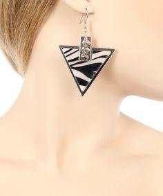 Drop Zebra Earring