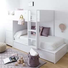 Youngsters Bedroom Furnishings – Bunk Beds for Kids Bunk Beds For Girls Room, Bunk Bed Rooms, Cool Kids Bedrooms, Small Room Bedroom, Kid Beds, Bunk Beds With Drawers, Bunk Beds With Stairs, Modern Bunk Beds, Fantasy Bedroom