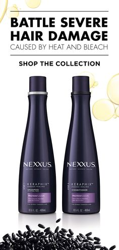 Get visibly healthier hair with Nexxus Keraphix infused with KERATIN P. Get visibly healthier hair Bleach Damaged Hair, Shampoo For Damaged Hair, Damaged Hair Repair, Damaged Hair Remedies, Hair Remedies For Growth, Keratin, Heavy Blonde Highlights, Fried Hair, Hair Fixing