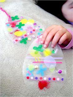 Transparent Easter Egg Craft for Kids