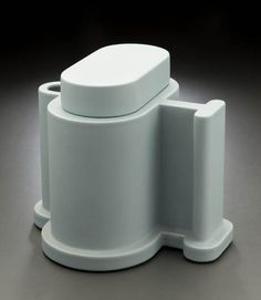 """Ettore Sottsass Pepper Teapot From the series """"Indian Memory""""  1972 (example of 1987)  Partially glazed earthenware  16.8 x 19.5 x 17.8 cm  Produced by Alessio Sarri Ceramiche, Sesto Fiorentino, Italy"""