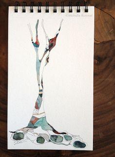Subtle Shift ~ Original Watercolor by Shell Rummel ©Michelle Rummel