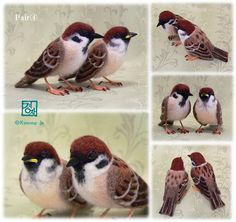 イメージ 5 Really nice needle felted birds
