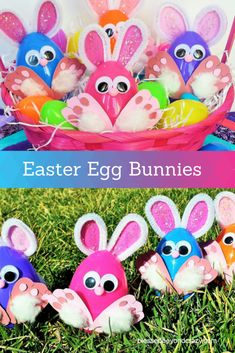 DIY Easter Egg Bunnies - made in just a few minutes with just a few inexpensive supplies!