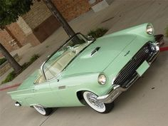 1957 Sea Spray Green Ford Thunderbird Convertible