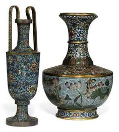 TWO CHINESE CLOISONNÉ ENAMEL VASES  19TH CENTURYhttp://www.christies.com/