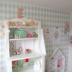 Harlequin wallpaper by Ferm Living, kids room details