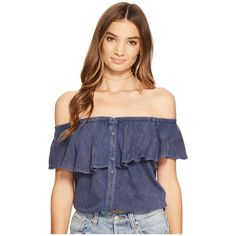 Free People Love Letter Tube Top (Navy) Women's Sleeveless (76 AUD) ❤ liked on Polyvore featuring tops, navy off the shoulder top, sleeveless crop top, crop top, bandeau top and sleeveless tops