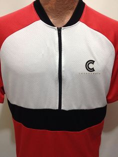 Cannondale Mens XL Red White Black Short-Sleeve Bike Cycling Jersey Shirt #Cannondale
