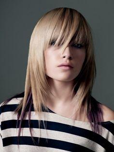 Peinados y Tendencias de Moda: Cortes de pelo en capas con flequillo 2014