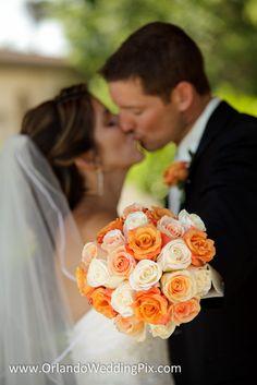 Orange flowers wedding