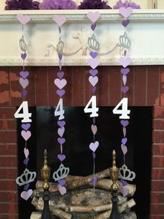 Princess First Birthday Party - Princess Party Backdrop Decor - Heart Photo Prop - Crown Banner - Purple Princess Birthday Decorations Princess Sofia Birthday, Princess Birthday Party Decorations, Sofia The First Birthday Party, Birthday Garland, 4th Birthday Parties, Girl Birthday, Purple Princess Party, Birthday Ideas, Birthday Gifts