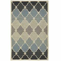 Ombre Tile Rug - 8x10 Blue
