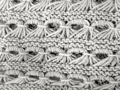 Patrón cuello de lana con punto caracol