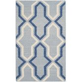 Found it at Wayfair - Dhurries Blue Contemporary Area Rug