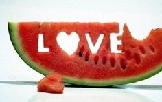 L-O-V-E  me some watermelon <3